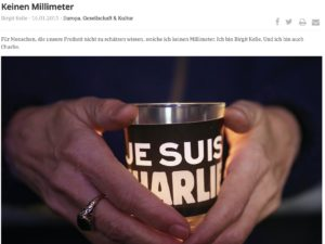 #JeSuisCharlie – Immer noch.